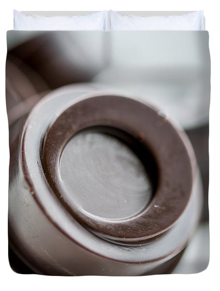 Chocolate Button - By Sabine Edrissi Duvet Cover by Sabine Edrissi