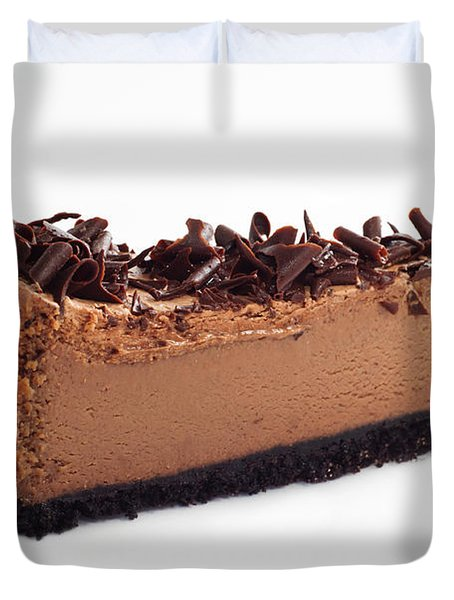 Chocolate Chocolate Cheesecake - Dessert - Baker - Kitchen Duvet Cover by Andee Design
