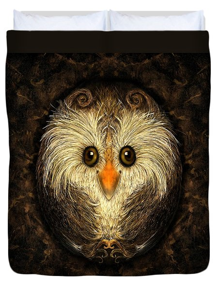 Chocolate Nested Easter Owl Duvet Cover