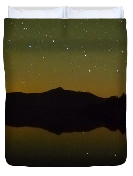 Chocorua Stars Duvet Cover by Brenda Jacobs