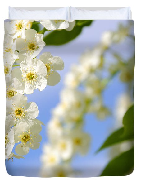 Choke Cherry In Bloom Duvet Cover by Gary Whitton