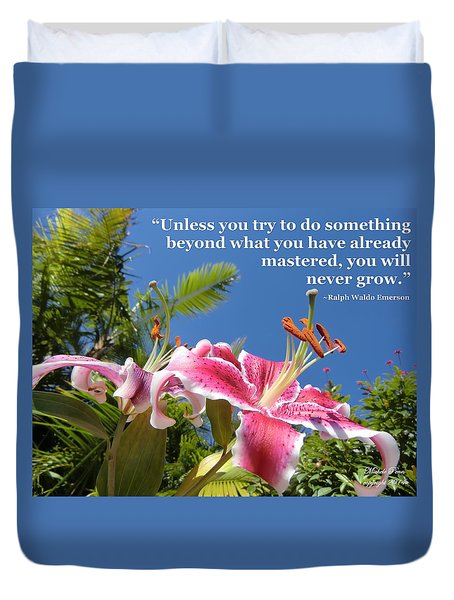 Choose Your Quote Choose Your Picture 18 Duvet Cover