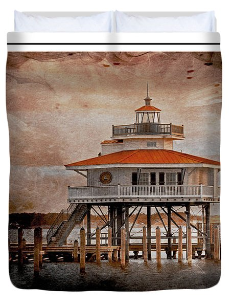 Choptank River Lighthouse Duvet Cover
