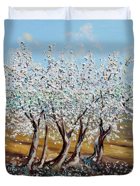 Duvet Cover featuring the painting Chosen by Meaghan Troup