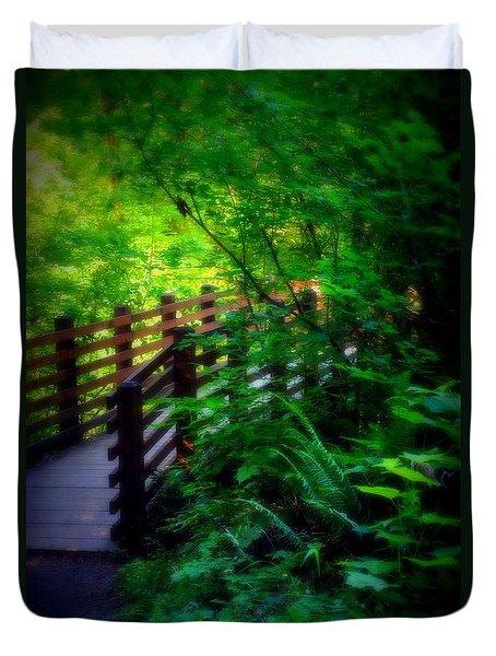 Chosen Path Duvet Cover by Amanda Eberly-Kudamik