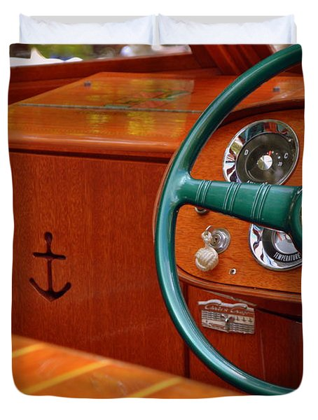 Chris Craft Cockpit Duvet Cover