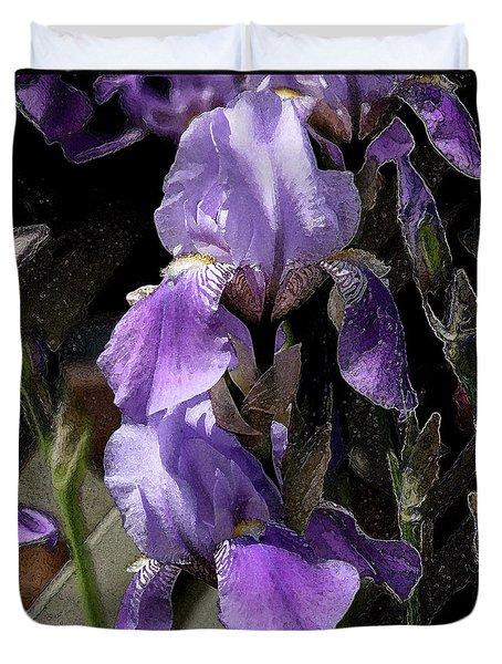 Chris' Garden - Iris 4 Duvet Cover by Stuart Turnbull