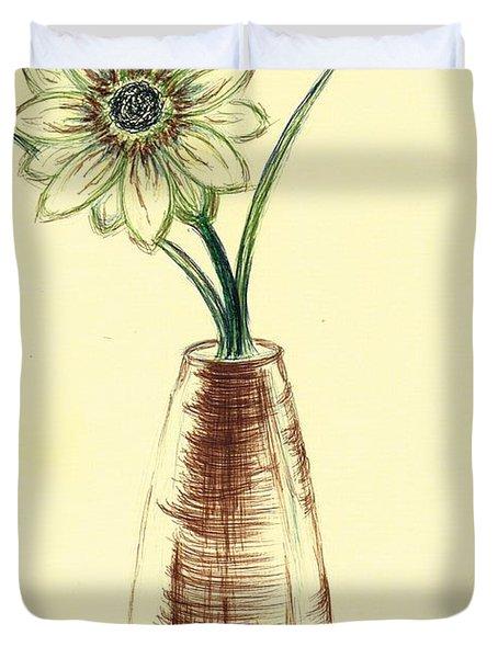 Chrysanthemum Flower Duvet Cover by Teresa White
