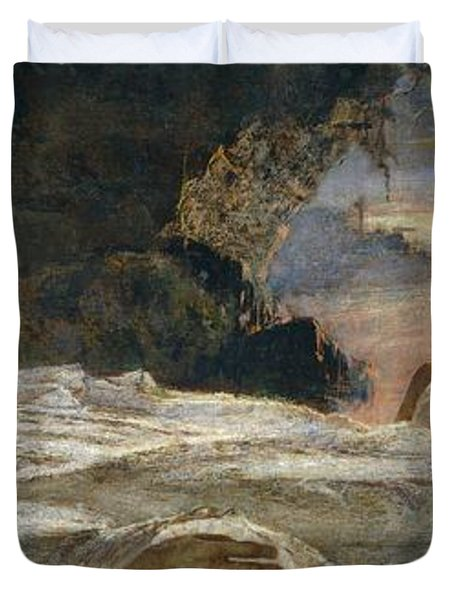 Christ And Mary Magdalene Duvet Cover by Eugenio Prati