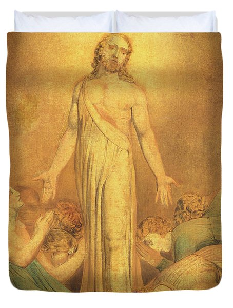 Christ Appearing To The Apostles After The Resurrection Duvet Cover
