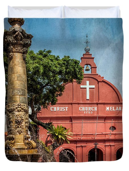 Christ Church Malacca Duvet Cover by Adrian Evans