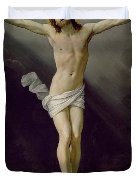 Christ On The Cross Duvet Cover