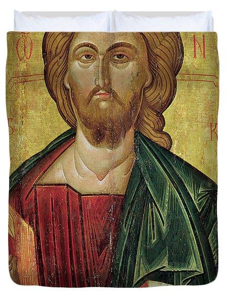 Christ Pantocrator Duvet Cover by Bulgarian School