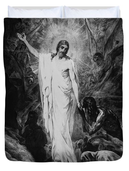 Christ Preaching To The Spirits In Prison C. 1910 Duvet Cover by Daniel Hagerman