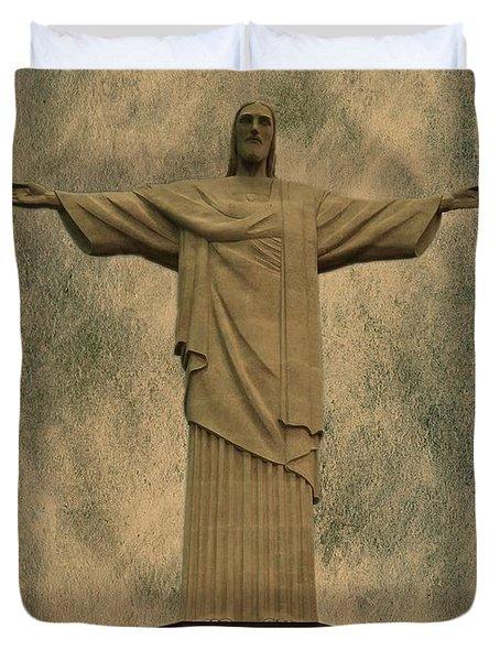 Christ The Redeemer Brazil Duvet Cover