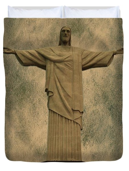 Christ The Redeemer Brazil Duvet Cover