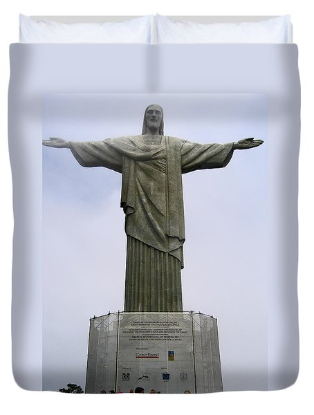 Christ The Redeemer Rio Duvet Cover by Jay Milo