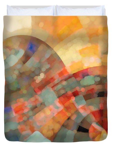 Christian Art- My Refuge Deuteronomy 33 27  Duvet Cover