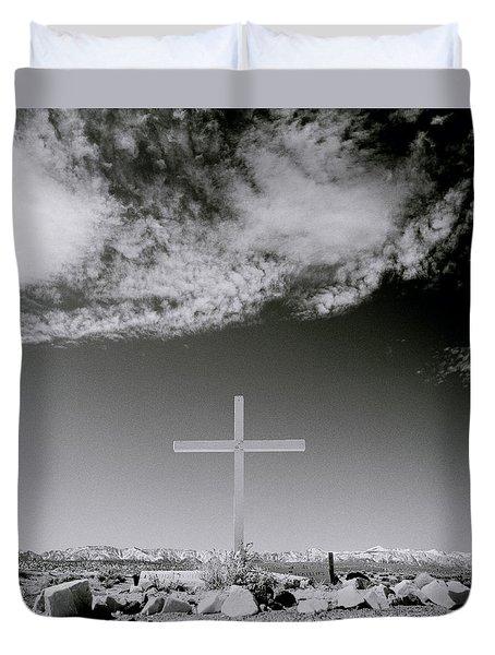 Christian Grave Duvet Cover by Shaun Higson
