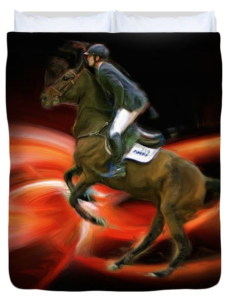 Christian Heineking On Horse Nkr Selena Duvet Cover