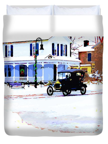 Christmas - 1913 Duvet Cover