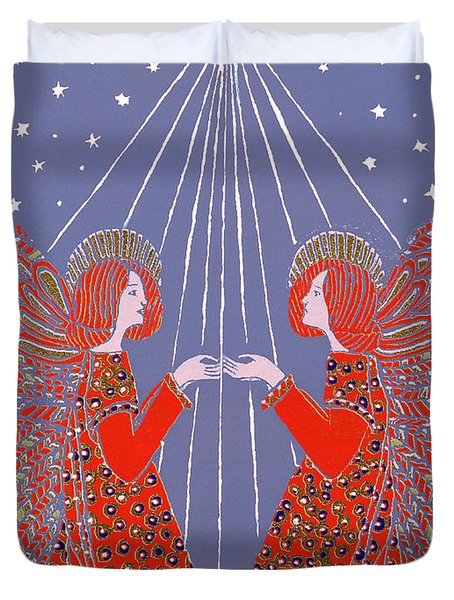 Christmas 77 Duvet Cover by Gillian Lawson