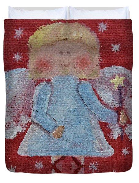 Christmas Angel Duvet Cover by Donna Tuten