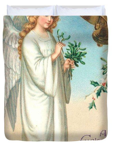 Christmas Angel Duvet Cover by English School