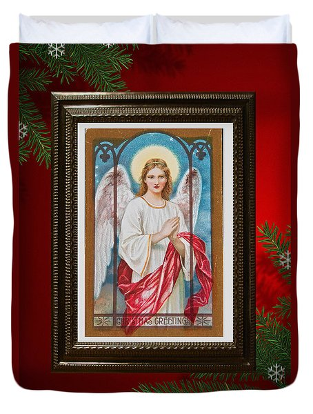 Christmas Angel Art Prints Or Cards Duvet Cover