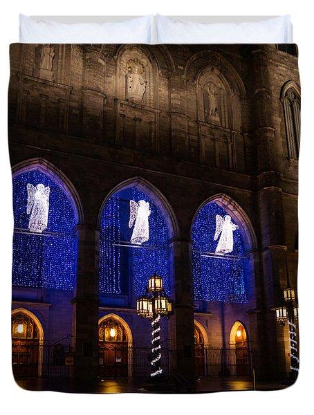 Christmas Angels - Notre-dame De Montreal Basilica Duvet Cover by Georgia Mizuleva