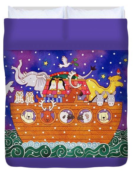 Christmas Ark Duvet Cover