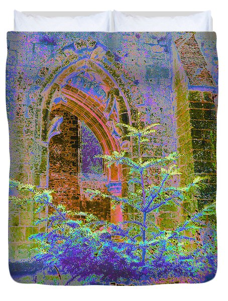 Christmas At Jumieges Abbey					 Duvet Cover