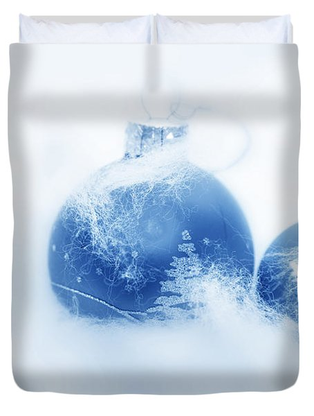 Christmas Balls Decoration Duvet Cover by Michal Bednarek
