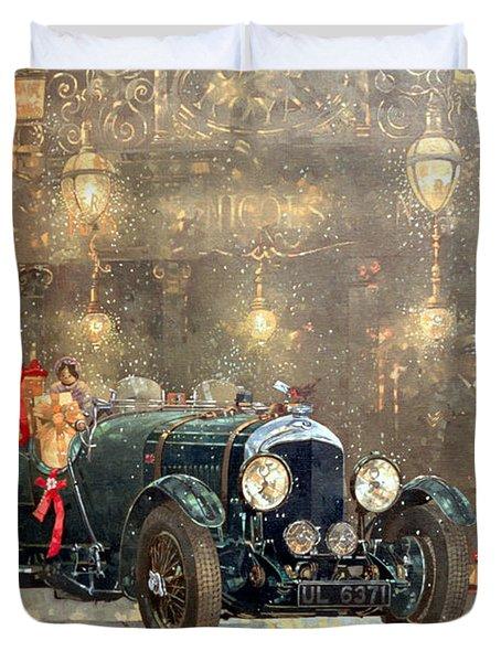 Christmas Bentley Duvet Cover by Peter Miller