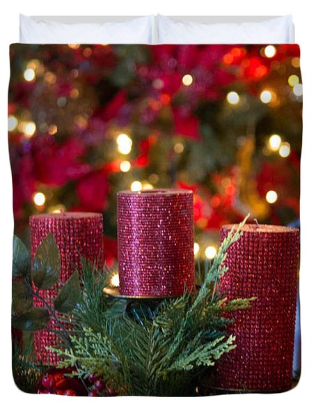 Christmas Candles Duvet Cover
