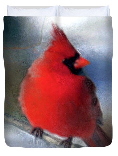 Christmas Card - Cardinal Duvet Cover