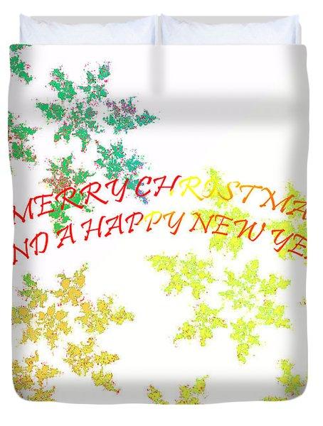 Christmas Card I Duvet Cover by Tatjana Popovska