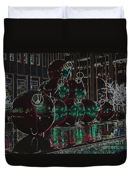 Duvet Cover featuring the photograph Christmas Card by Laurinda Bowling