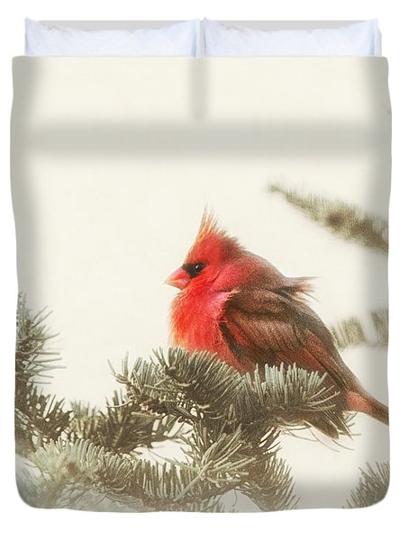 Christmas Cardinal Duvet Cover