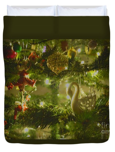 Duvet Cover featuring the photograph Christmas Cheer by Cassandra Buckley