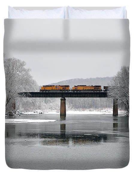 Christmas Coal Duvet Cover