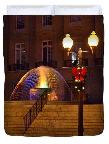 Duvet Cover featuring the photograph Christmas Colors by Bob Sample