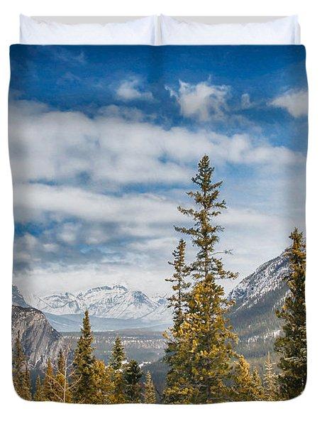 Christmas Day In Banff Duvet Cover