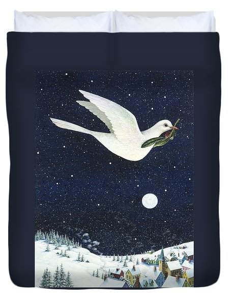 Christmas Dove Duvet Cover