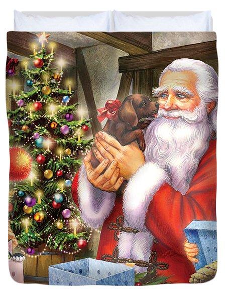 Christmas Eve Duvet Cover by Zorina Baldescu
