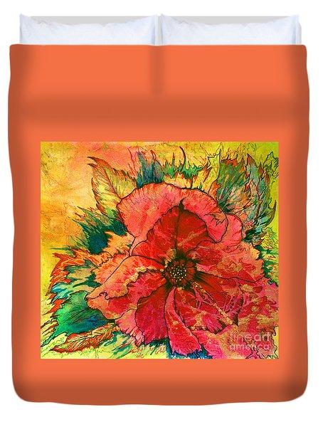 Christmas Flower Duvet Cover by Nancy Cupp