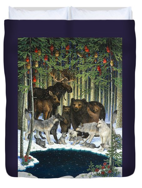 Christmas Gathering Duvet Cover