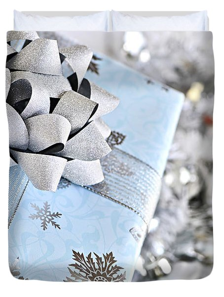 Christmas Gift Box Duvet Cover by Elena Elisseeva