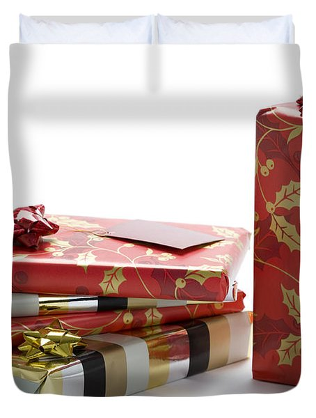 Duvet Cover featuring the photograph Christmas Gifts by Lee Avison