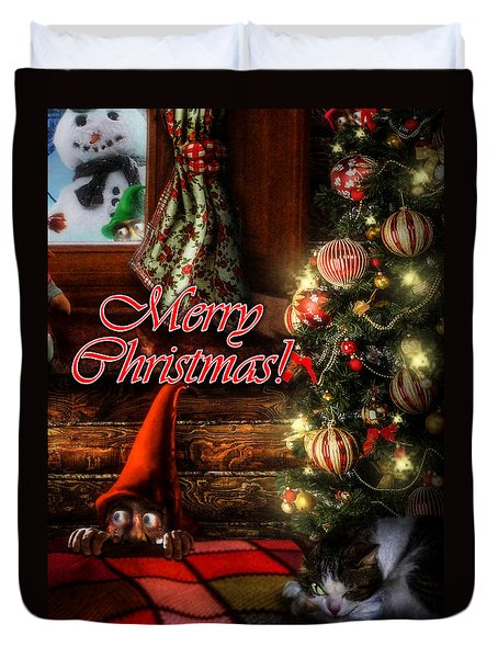 Christmas Greeting Card Viii Duvet Cover by Alessandro Della Pietra